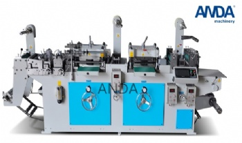Double-Station Label Die Cutting Machine Model MQ320D